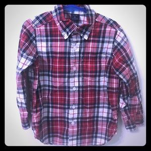 🌟GAP plaid button down shirt size 5